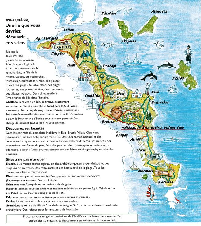 Carte Ile d'Eubée